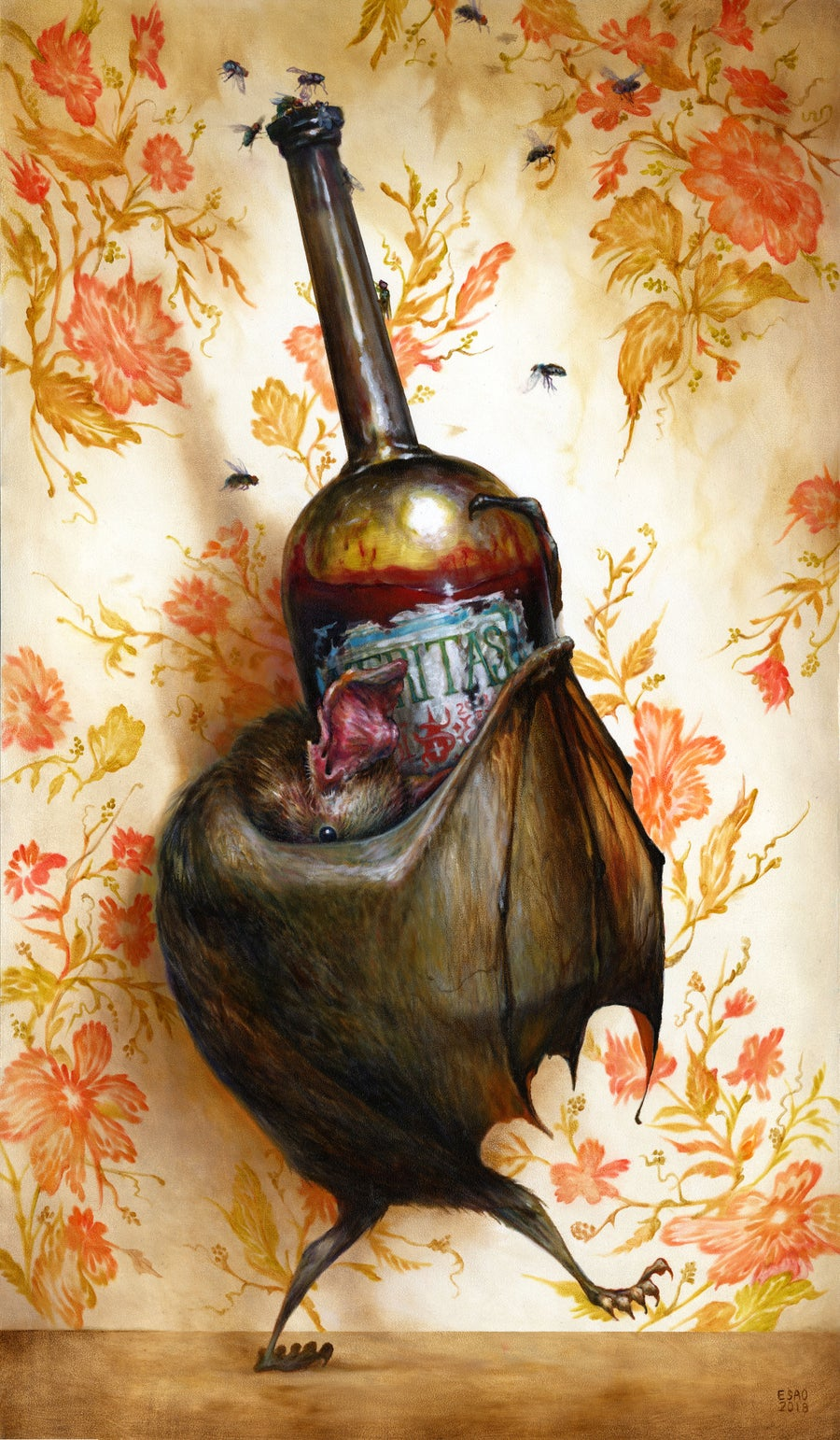 "Image of ""Wino"" <br>Original Painting <br>by Esao Andrews"