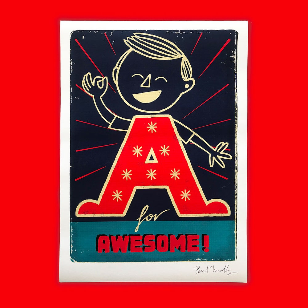 Image of A3 A for Awesome print