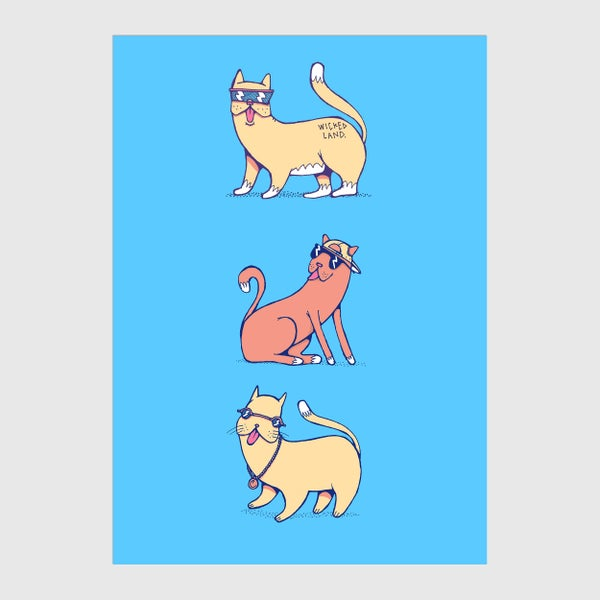 Image of Cool Cats A6 Postcard