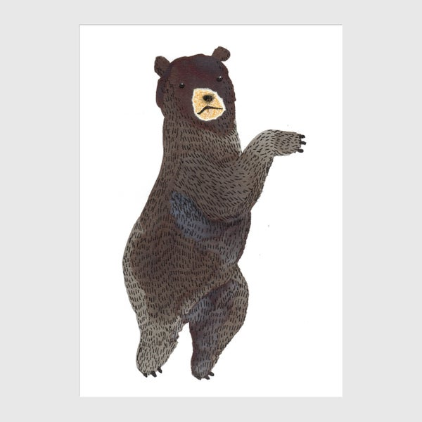 Image of Dancing Bear A6 Postcard