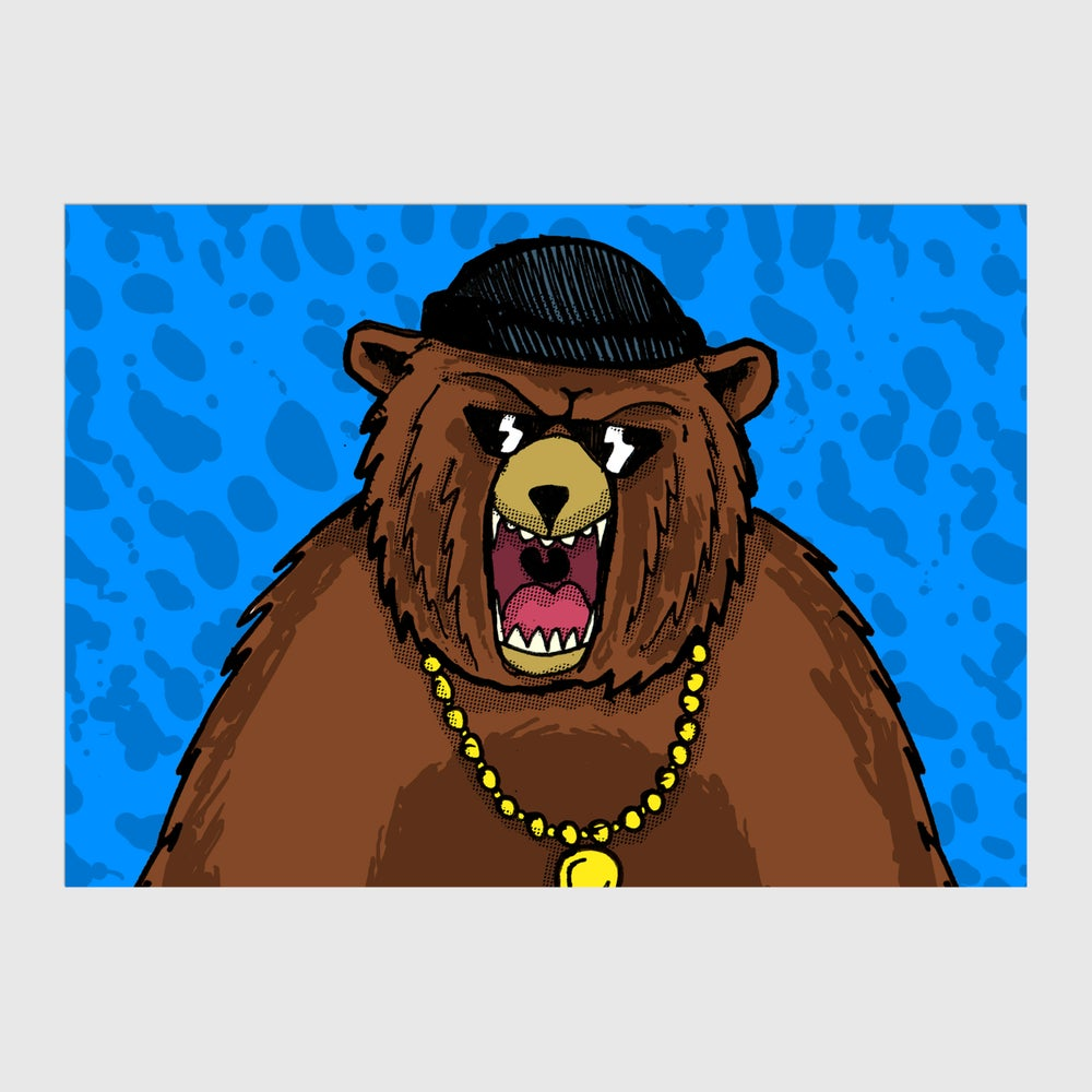 Image of Grizzly Bear A6 Postcard