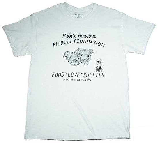 Image of WHITE (PHST PITBULL FOUNDATION) T-SHIRT