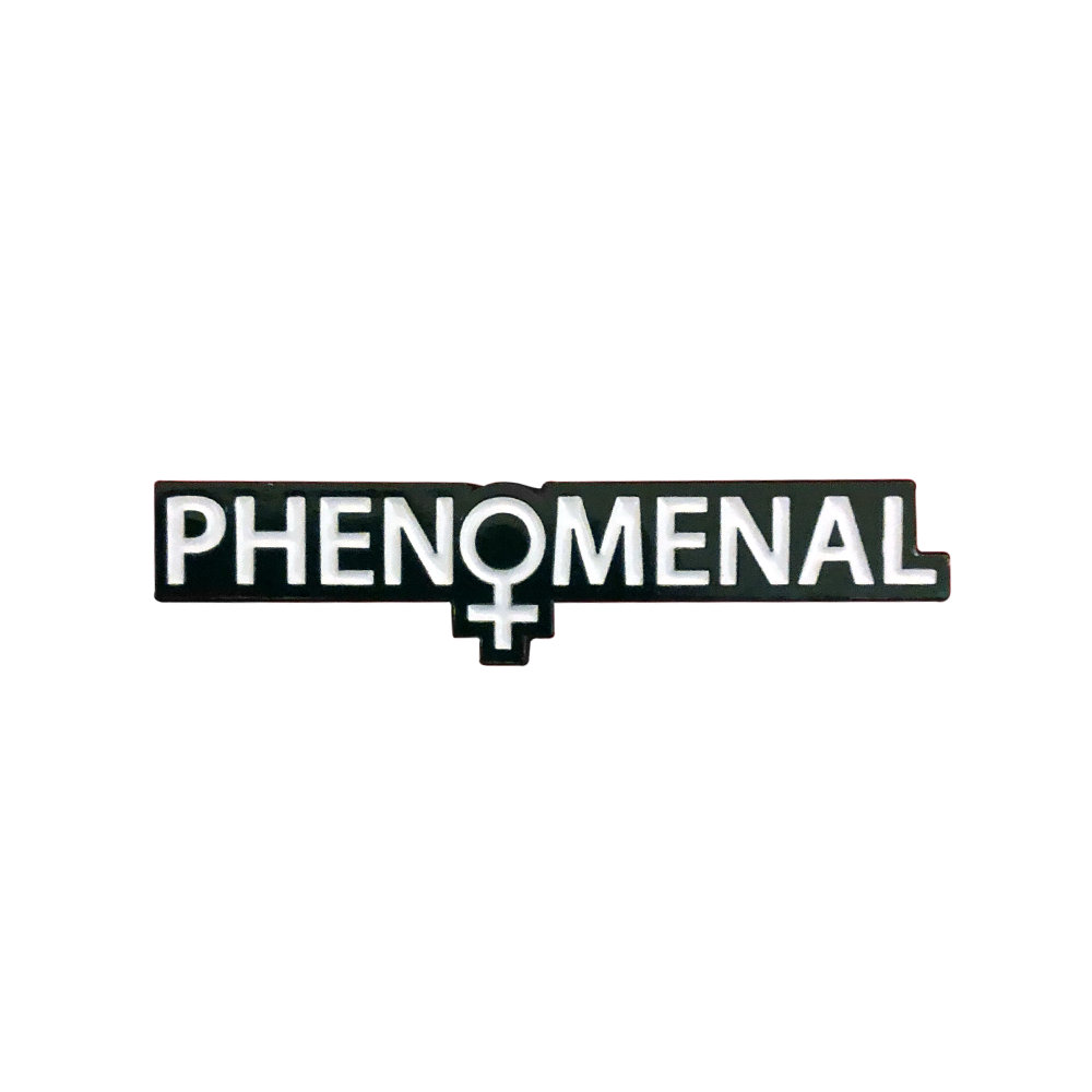 Image of Phenomenal Woman Pin (Black)
