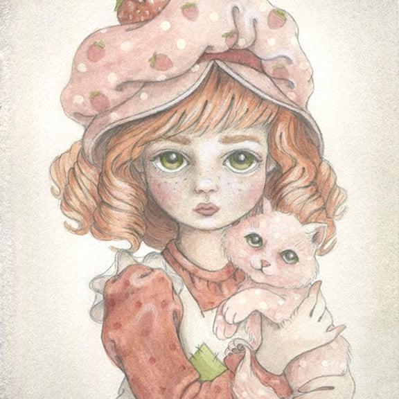 Image of Strawberry Shortcake 5x7 print