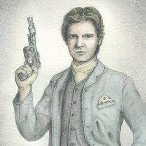Image of Han Solo 5x7 print