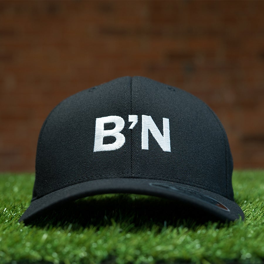 Image of B'N FranklinGothic Type Black/White Stitch