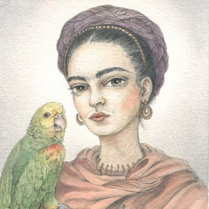Image of Frida and Bonito 5x7 print