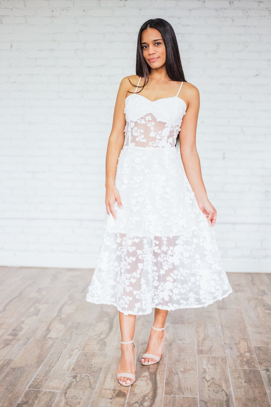 Image of 'Valentina' Peek-A-Boo Dress