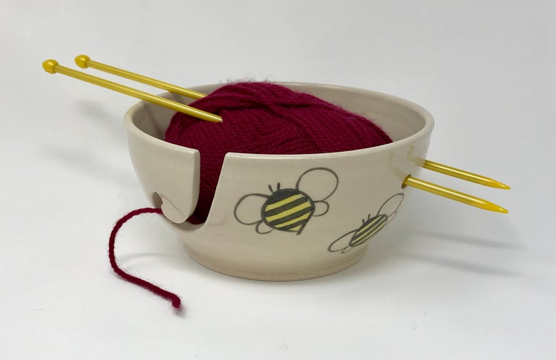 Image of Bee decorated Wool bowl