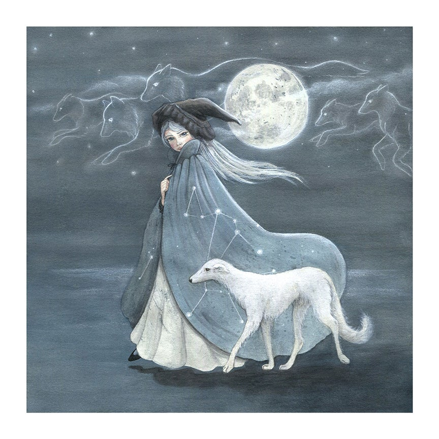 Image of Dog Stars, Wolf Moon Special Edition Print