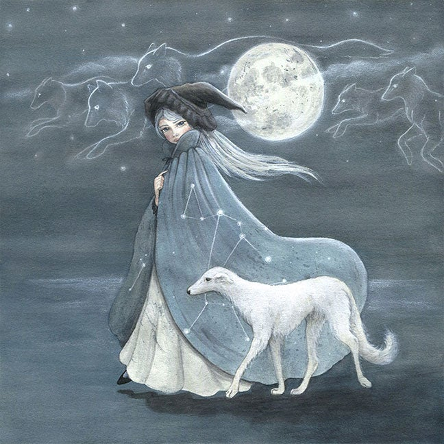 Image of Dog Stars, Wolf Moon 8x10 print