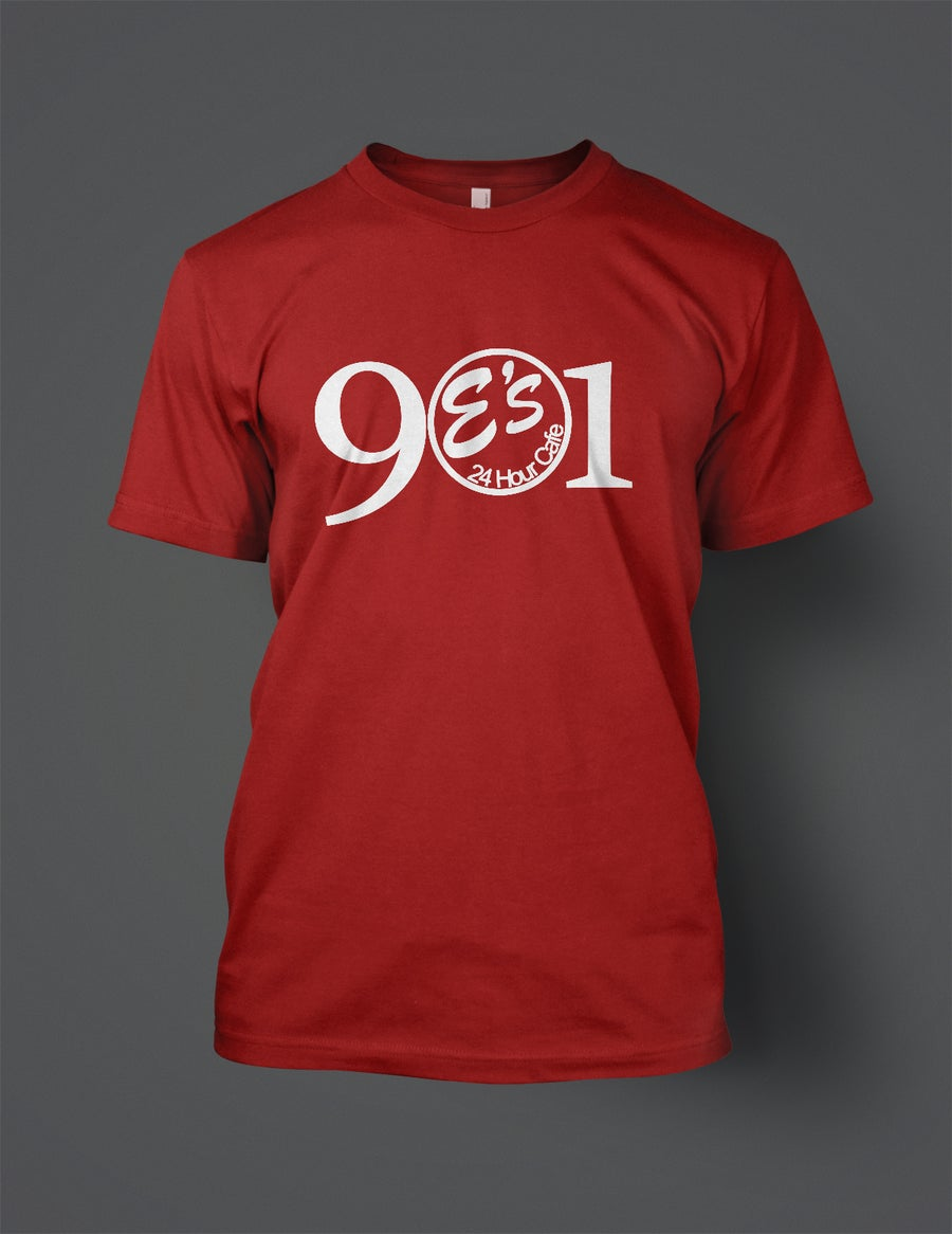 Image of Red 901 E's tee