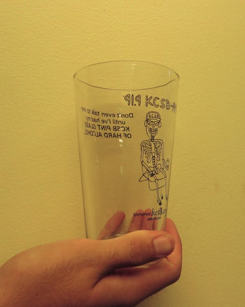 Image of KCSB-FM Pint Glass