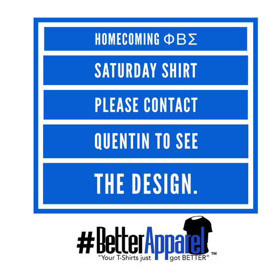 Image of ΦΒΣ Ηomecoming Game Day Shirt