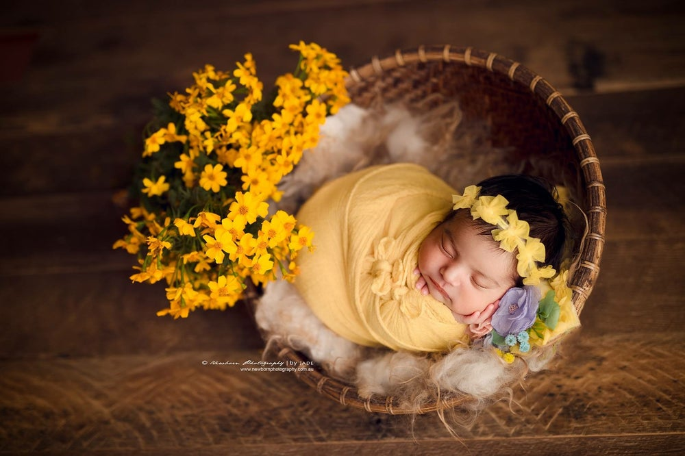 Image of Tulle bows headband (yellow)
