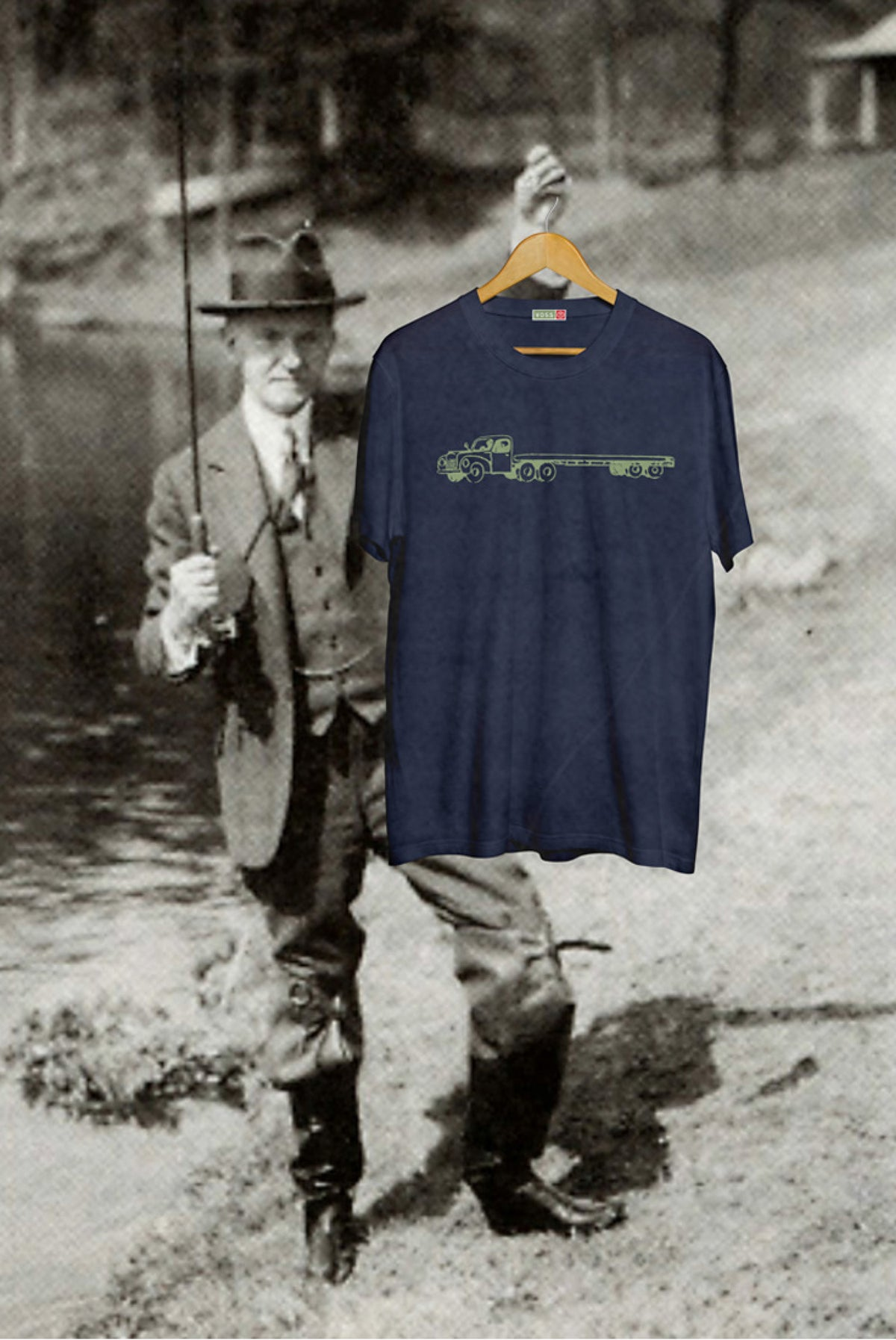 Image of Truck Tee - Navy