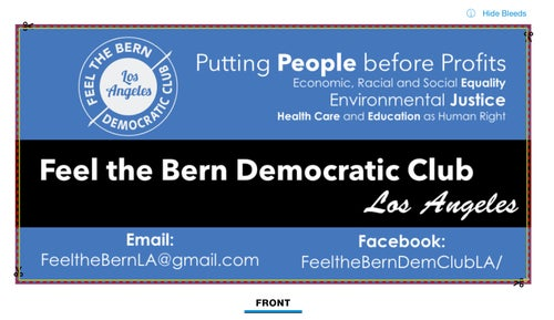 Image of Donations to Feel the Bern LA Club (starting at $5)