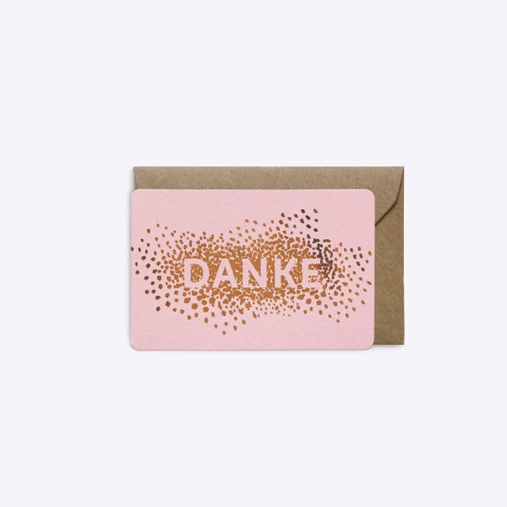 Image of MINI-CARTE CONFETTIS DANKE ROSE