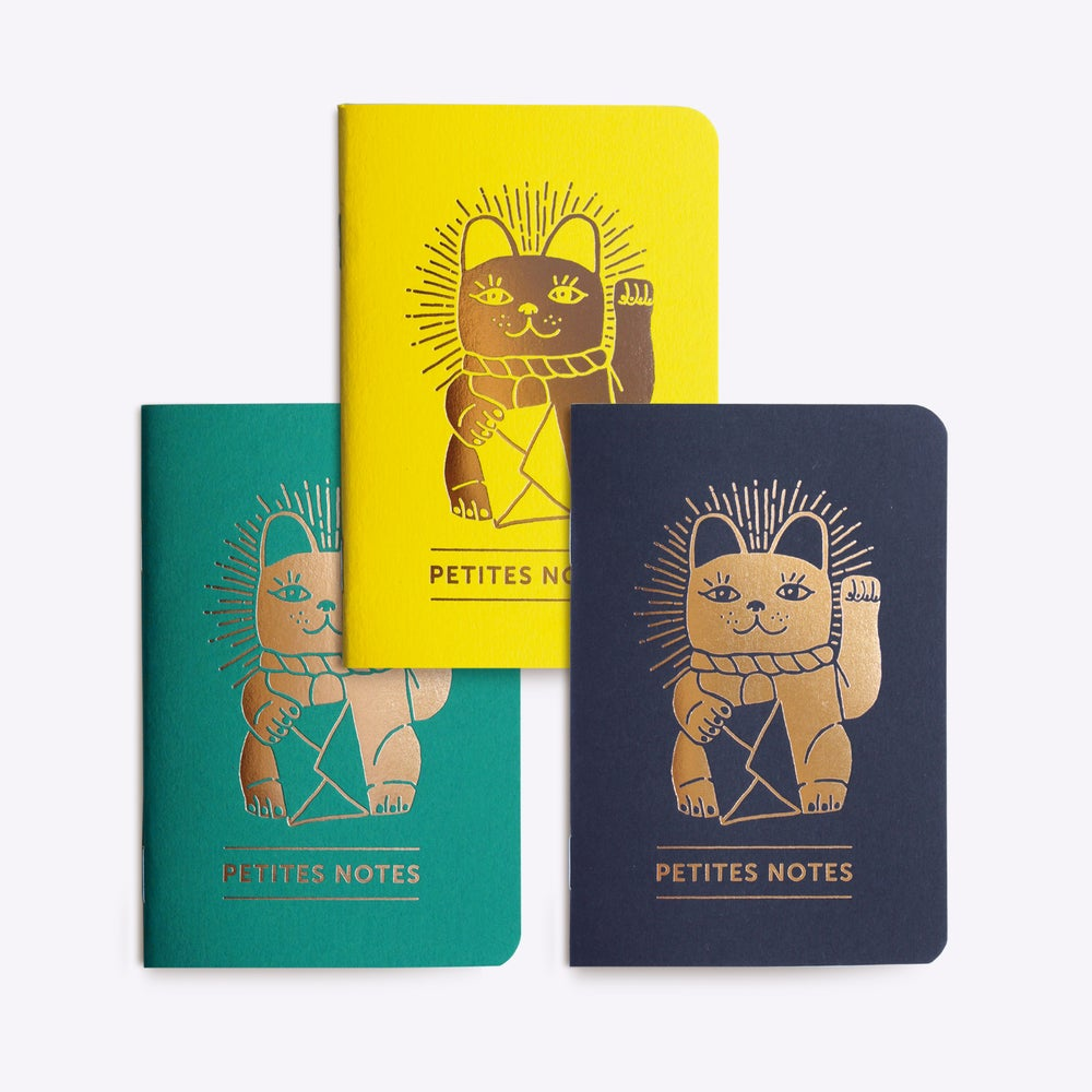 "Image of TRIO PETITS CARNETS ""LUCKYCAT"""