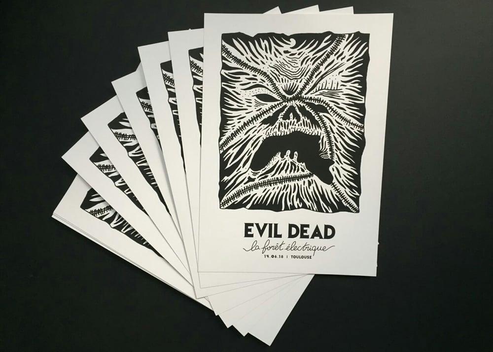 Image of Affiche sérigraphiée Evil Dead