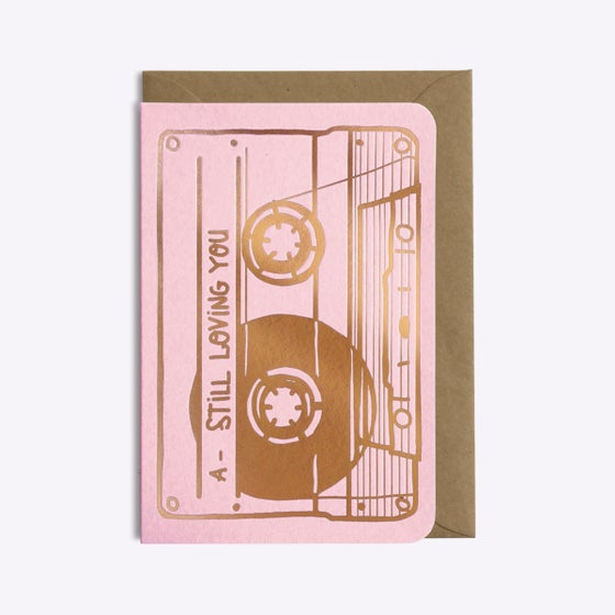 "Image of CARTE ""CASSETTE STILL LOVING YOU"""