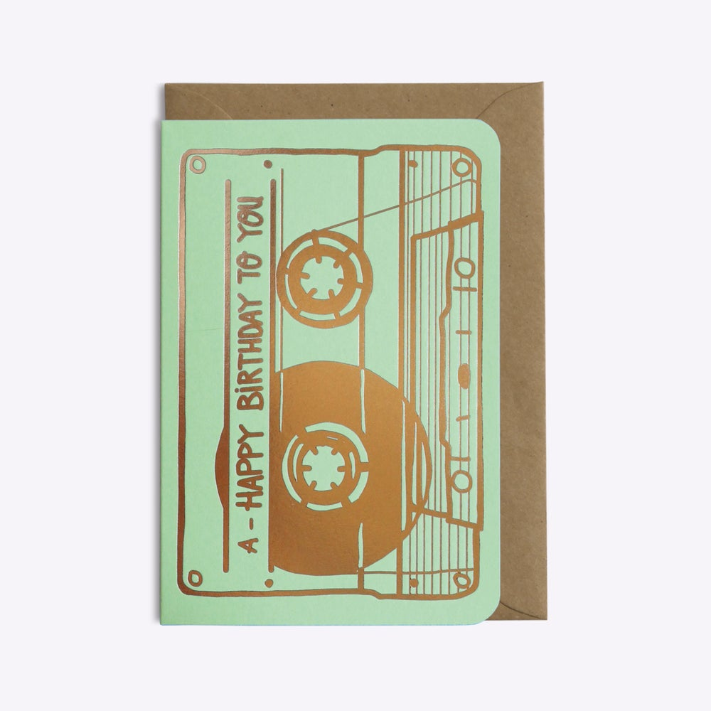 "Image of CARTE ""CASSETTE HAPPY BIRTHDAY TO YOU"""
