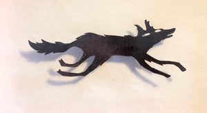 Image of paper silhouette wolf -- ONE OFF-- animation ephemera