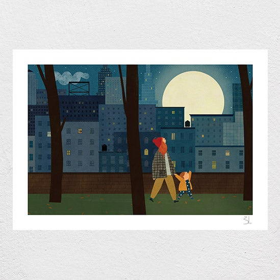 Image of City Moon Print