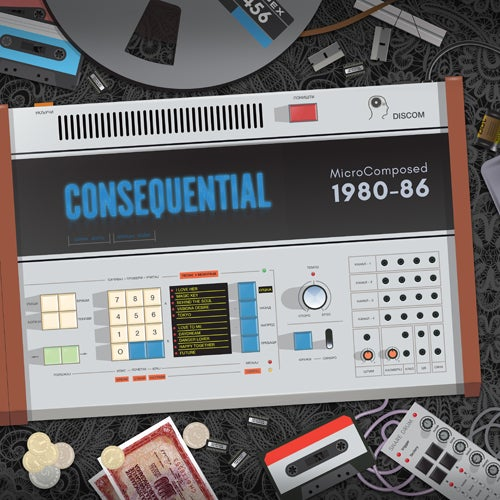 Image of Consequential-MicroComposed 1980-86 LP, DCM-007 (Intl. Shipping 6.5 EUR, Within Germany 3.99 EUR)