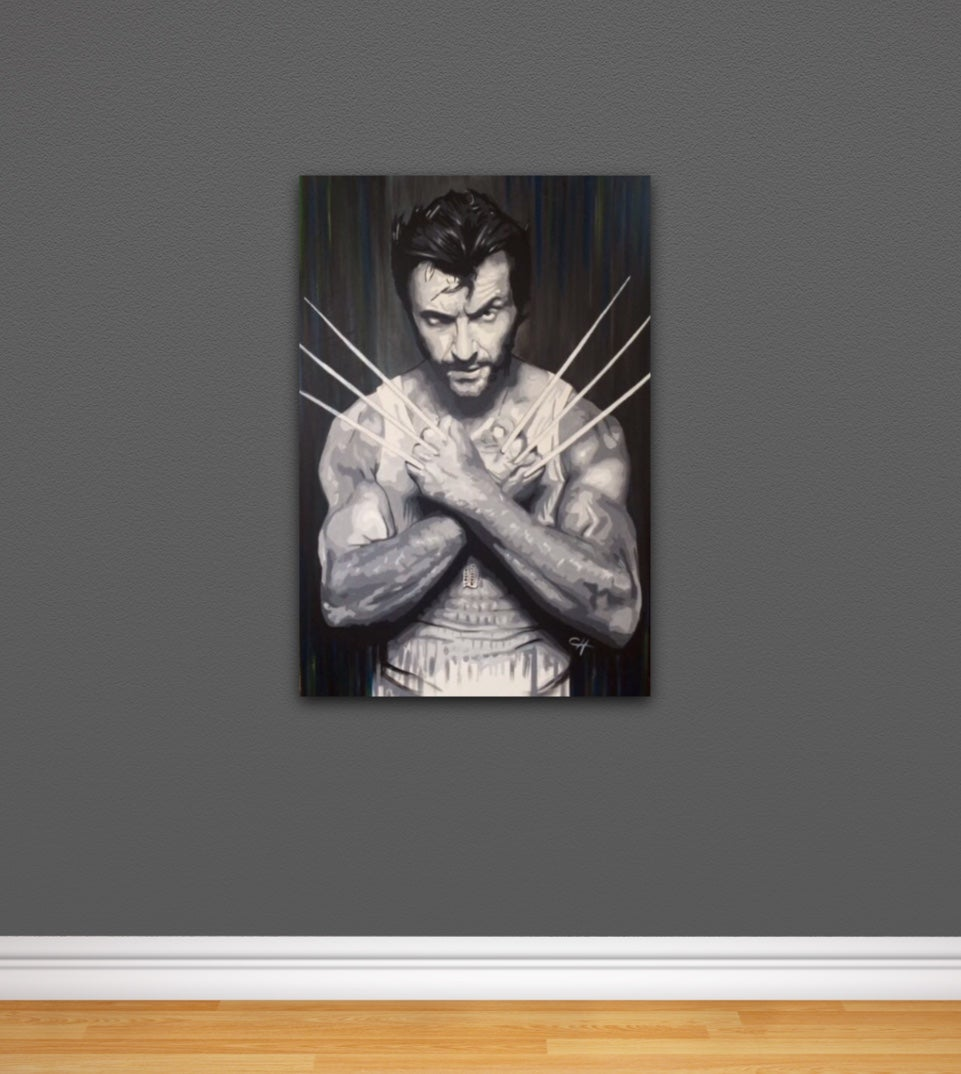 Image of Wolverine 'Come Get Some' Hand Painted Original
