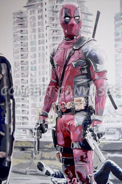 Image of Deadpool 'Zippidy Doo Da' Hand Painted Original