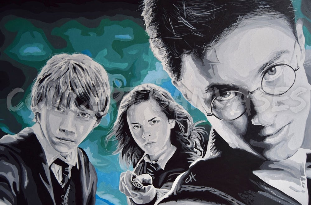 Image of Harry Potter 'Anything's Possible' Hand Painted Original