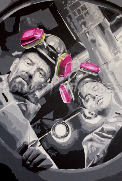 Image of 'Breaking Bad'. Hand Painted Original