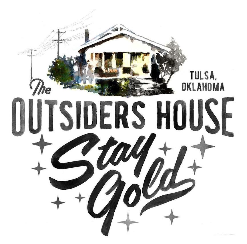 "Image of The Outsiders House Tulsa, Oklahoma ""Stay Gold"" White T-Shirts."