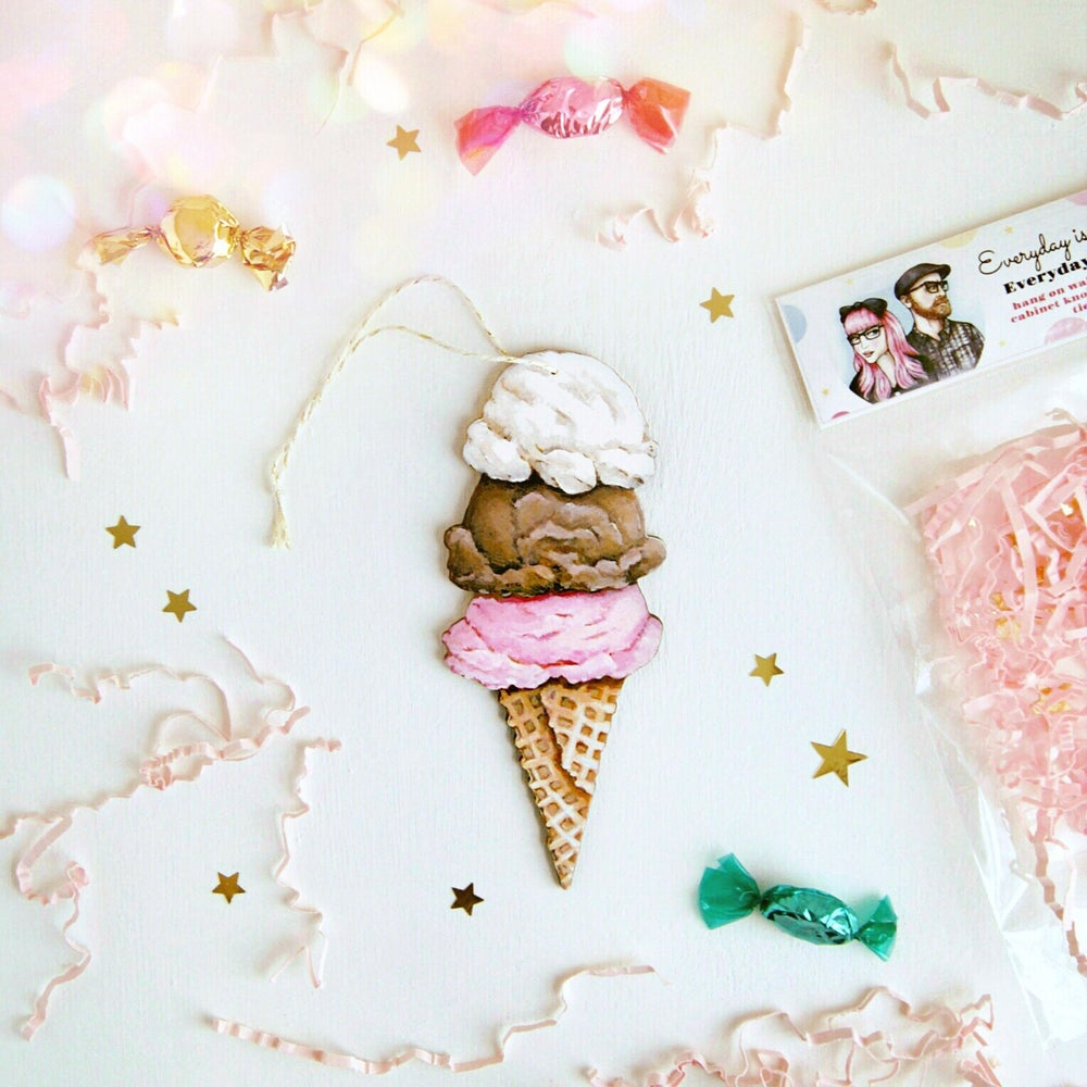 Image of Ice Cream Cone Everyday Ornament