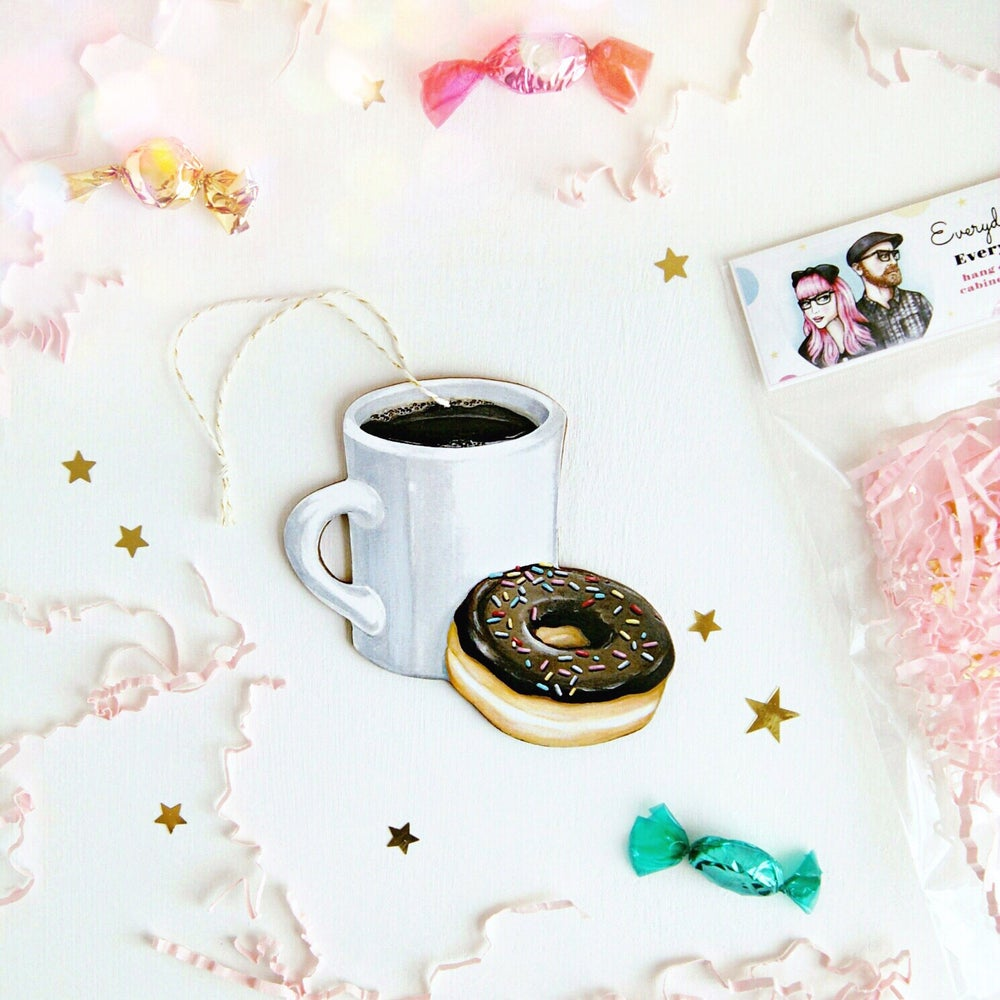 Image of Coffee & Donut Everyday Ornament