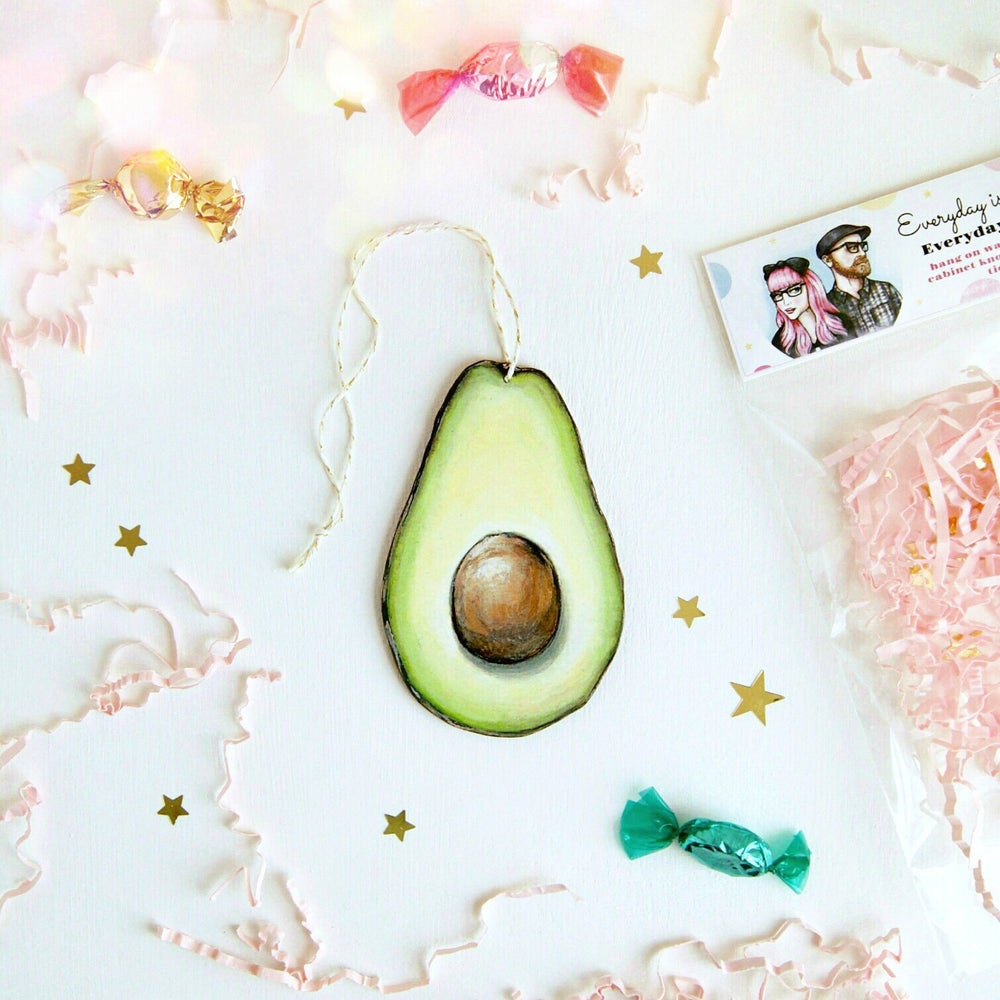 Image of Avocado Everyday Ornament