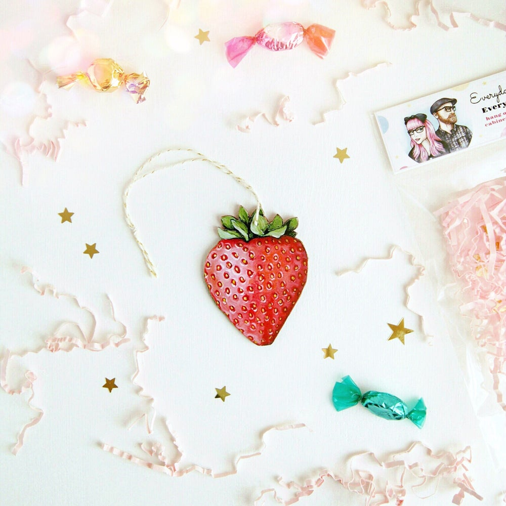 Image of Strawberry Everyday Ornament