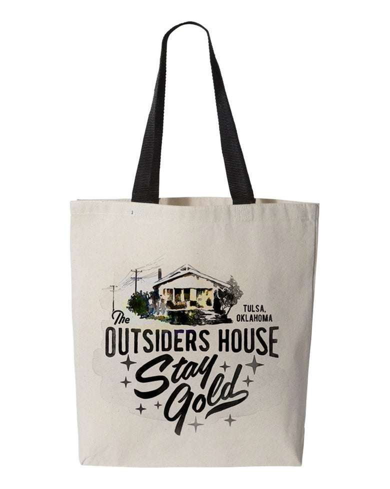 "Image of The Outsiders House Museum Tulsa, Oklahoma. ""Stay Gold"" Canvas Tote Bag."