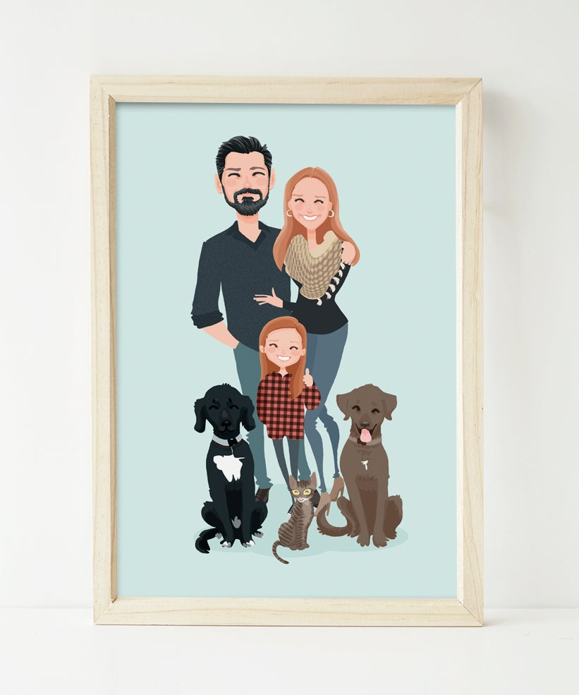 Image of Family of 3 and 3 pets