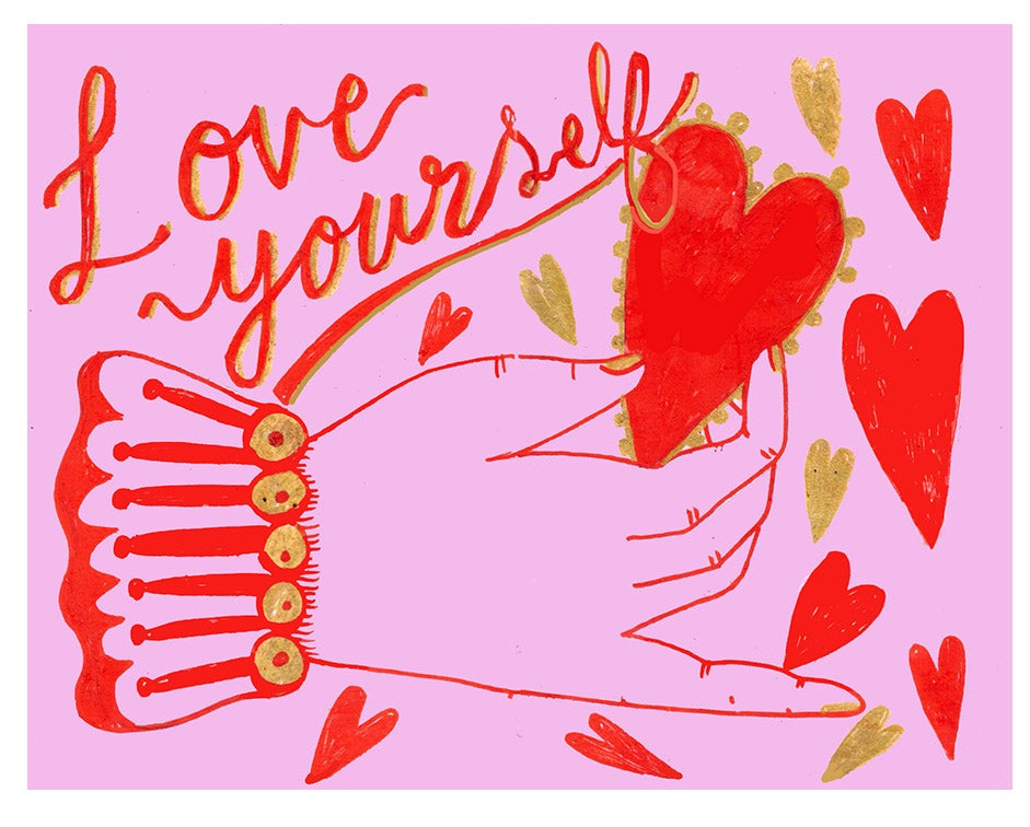 Image of Love yourself ella365project postcards