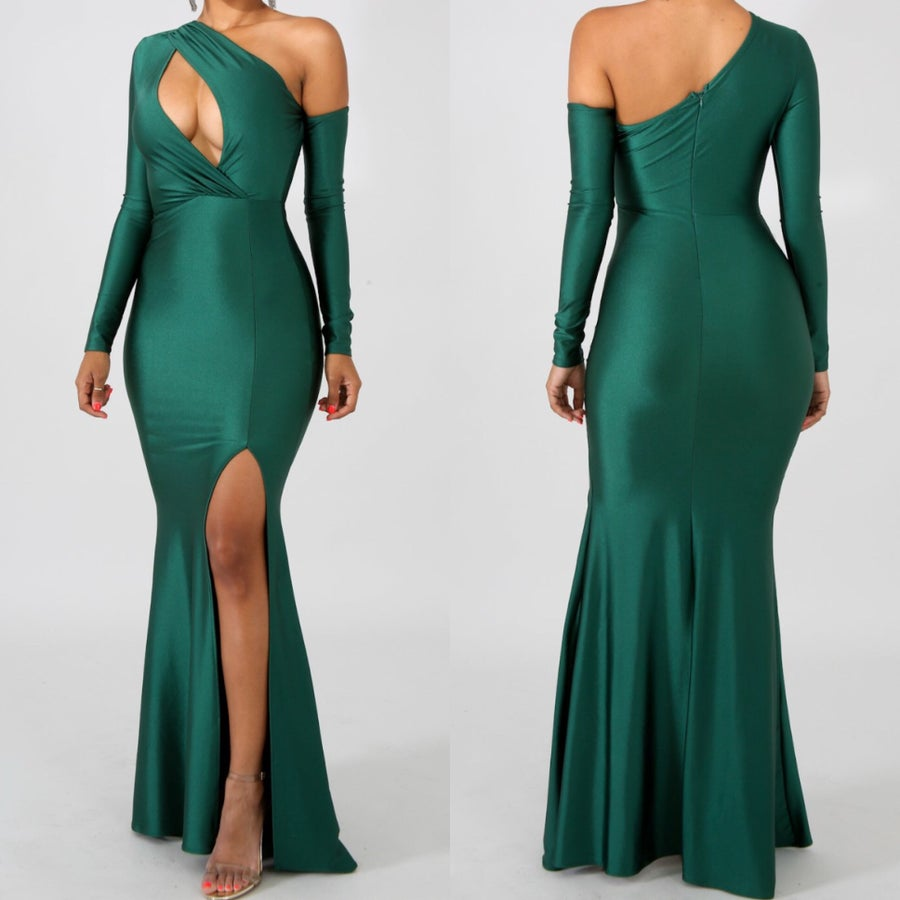 Image of Esmeralda slit gown