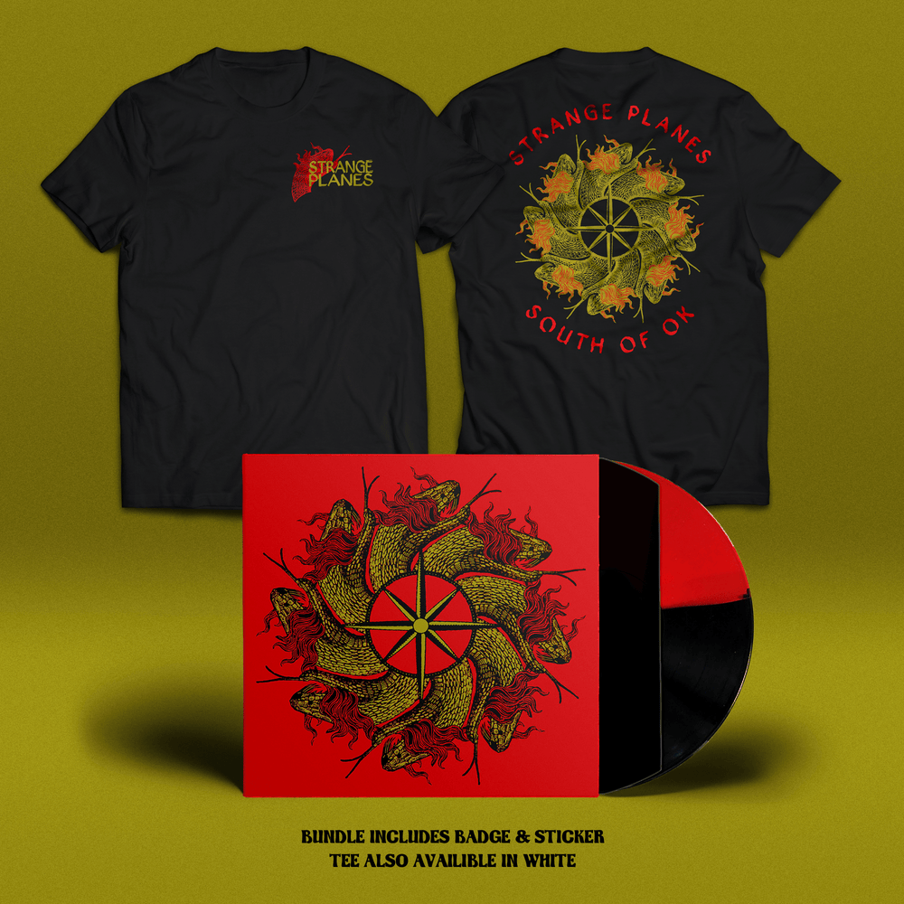 Image of Strange Planes - South Of OK // Vinyl & T-shirt Bundle