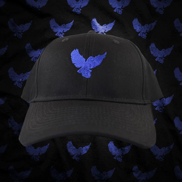 Image of Black/Blue Birdies Dad Hat