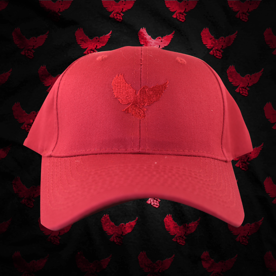 Image of Red/Red Birdies Dad Hat