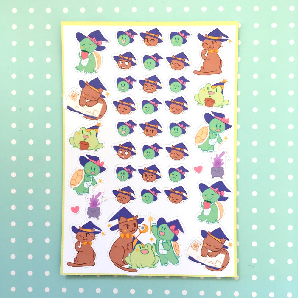 Image of Wizfrog and Friends Planner Stickers!