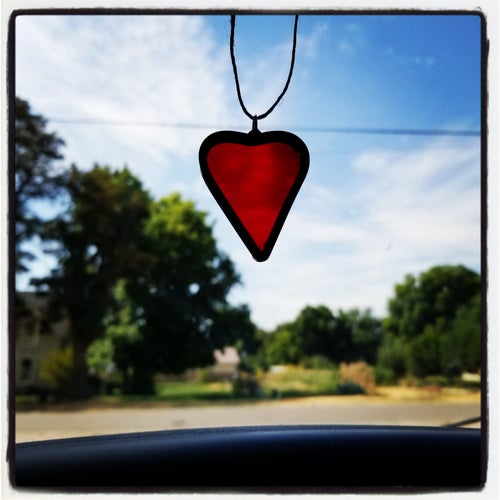 Image of Bold Mini Heart-Stained glass