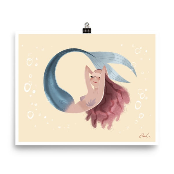 Image of Champagne Mermaid Print