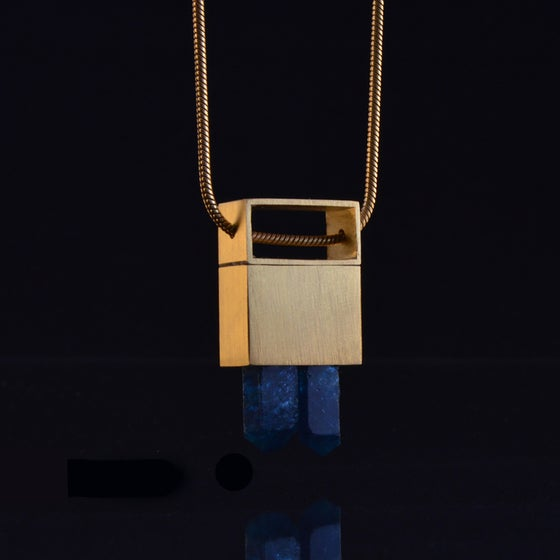 Image of INSPIRED ACTION necklace // Blue Apatite crystal
