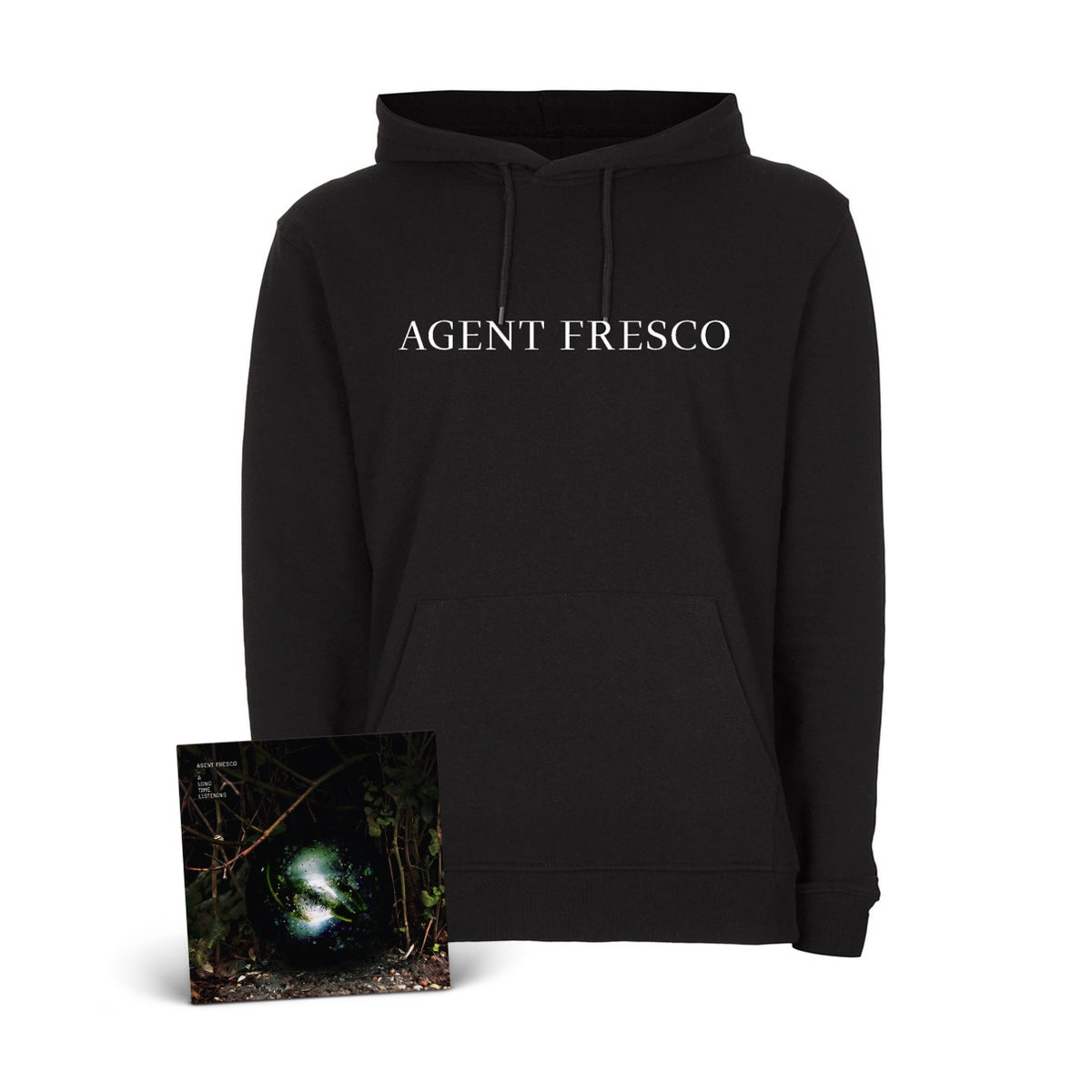 "Image of Agent Fresco ""A Long Time Listening"" CD-Hoodie-Bundle"